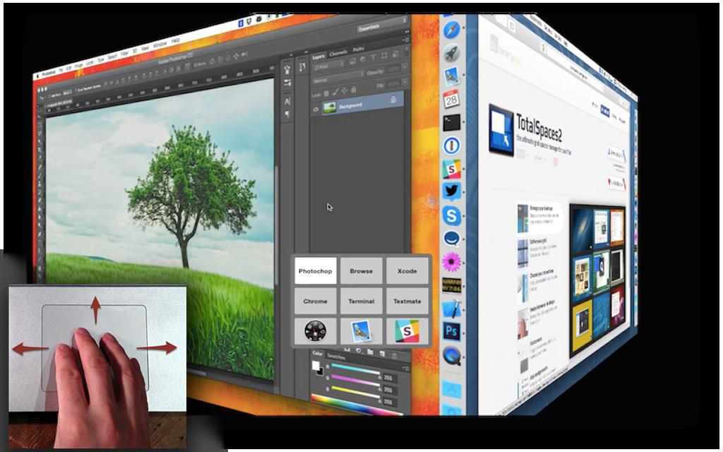 TotalSpaces 2 for Mac 2.3.9 破解版 - Mac上优秀的网格式桌面管理工具