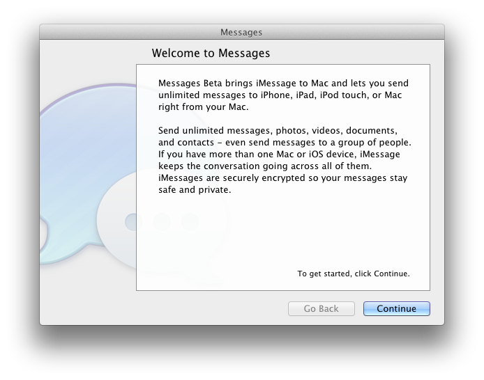 Download iMessage Beta for Mac OS X Lion