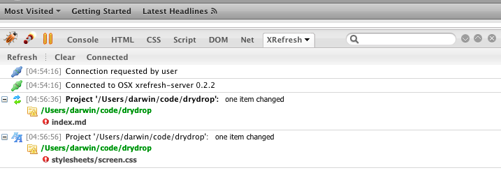 XRefresh provides browser refresh automation for web developers